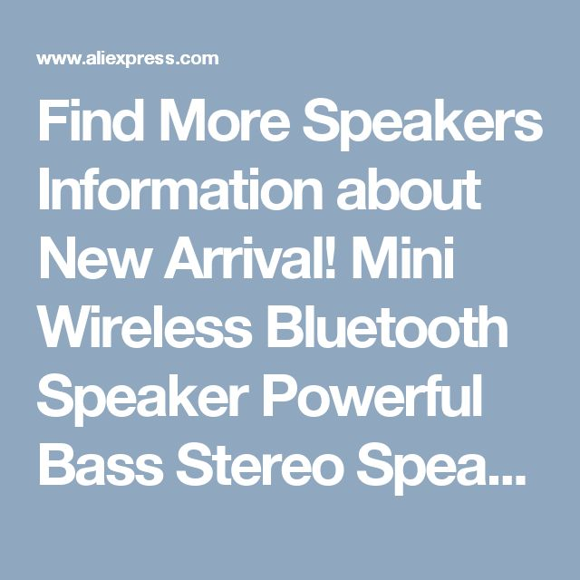 Find More Speakers Information about New Arrival! Mini Wireless Bluetooth Speaker Powerful Bass Stereo Speaker 1800mAh With FM Radio TF Card Play Touch Control Jan10,High Quality speaker shielding,China speaker cellphone Suppliers, Cheap speaker layouts from ArmyAnts Electronic Store on Aliexpress.com