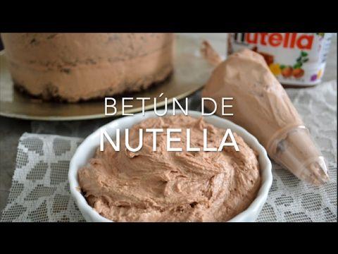 Frosting o betún de nutella (fácil, rápido & delicioso)