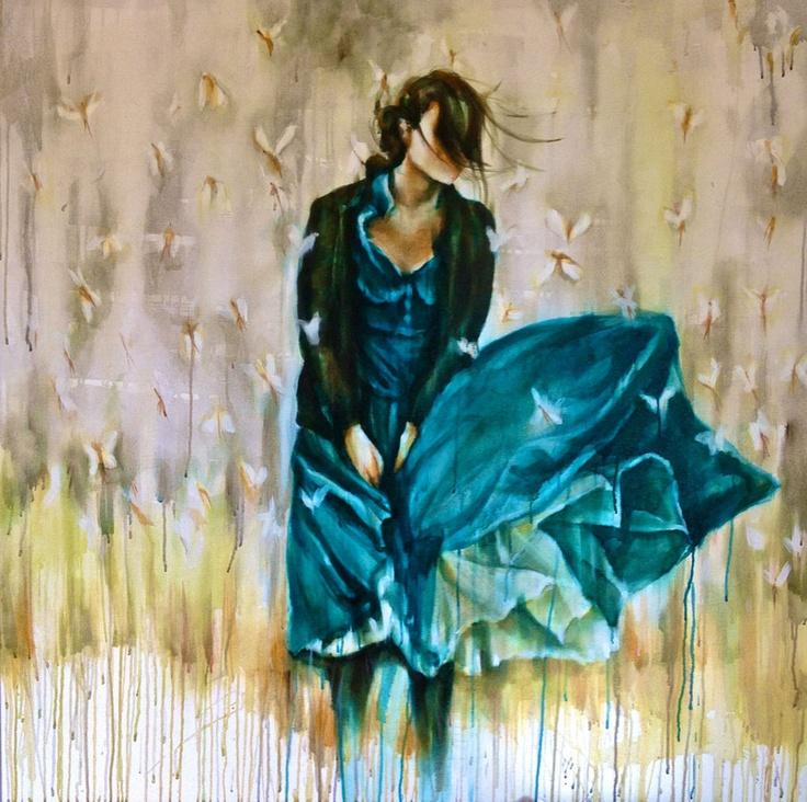 Wind Of Invasion: Medium: oil on canvas size : 120cm x 120cm Lisa Lee ...