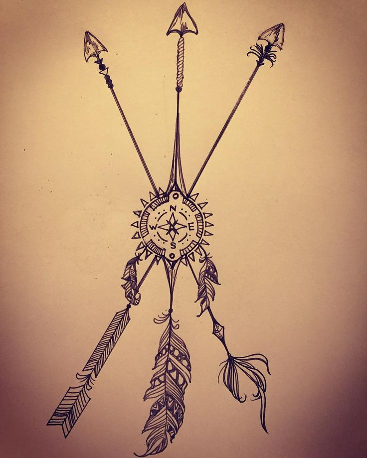 ARROWモチーフのオリジナルタトゥー!!      #arrowtattoo#compasstattoo#dreamcatchertattoo#アロー#arrow#コンパス#方位磁石#ドリームキャッチャー#タトゥー#tattoo#オリジナル#original#インディアン#Indian#ボールペン#ballpen#navajo#navajotattoo