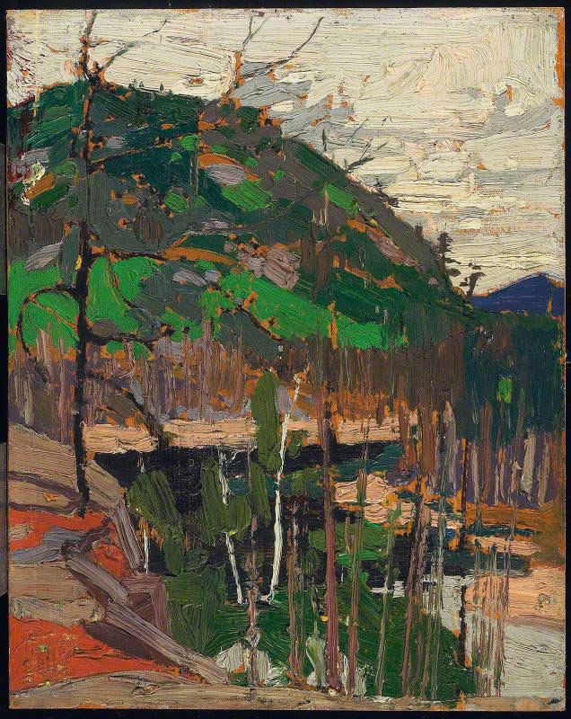 Tom Thomson Rounded Hill and River, 1916 Oil on Wood, 26.7 x 21.4 cm