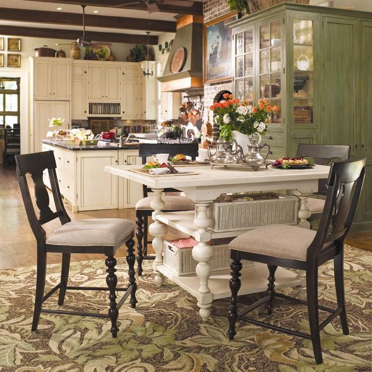 Paula Deen Home Gathering Table Set W/ 4 Counter Height Chairs By Paula  Deen By Universal At Furniture Barn U0026 Manor House
