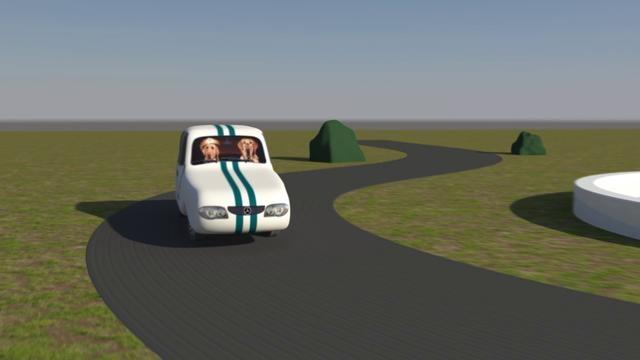 Trabajo pequeño en Autodesk Maya de un coche derrapando. Little work with Autodesk Maya about skidding car.
