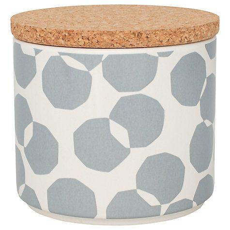 Buy John Lewis Scandi Spot Kitchen Storage Jar, 1L Online at johnlewis.com