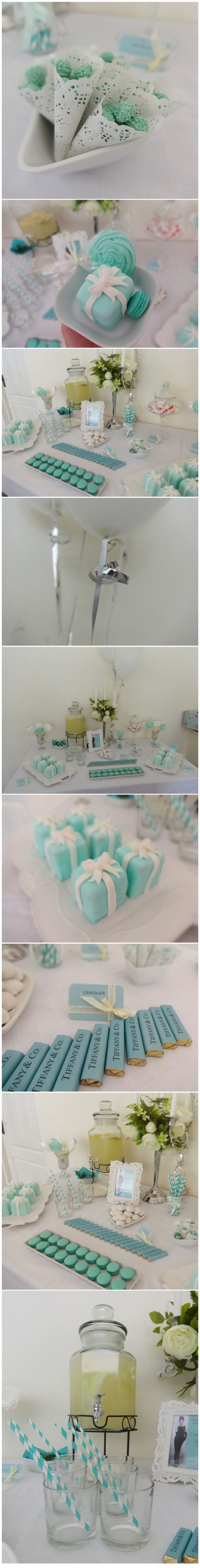 Elegant Tiffany Blue Candy or Dessert Buffet Package. Customized just for you. Great for Wedding Receptions, Bridal Creating,birthday party, andrada irimies, cluj, candy bar, candy buffet, www.andradairimie..., tiffany & co, theme, baby shower, wedding, inspiration, shabby chic, chocolate, merci, nunta, audrey hepburn, ciocolata personalizata