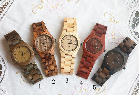 Reservation Wooden Watch Women or Men Zebra Wood by DOWOODwatch