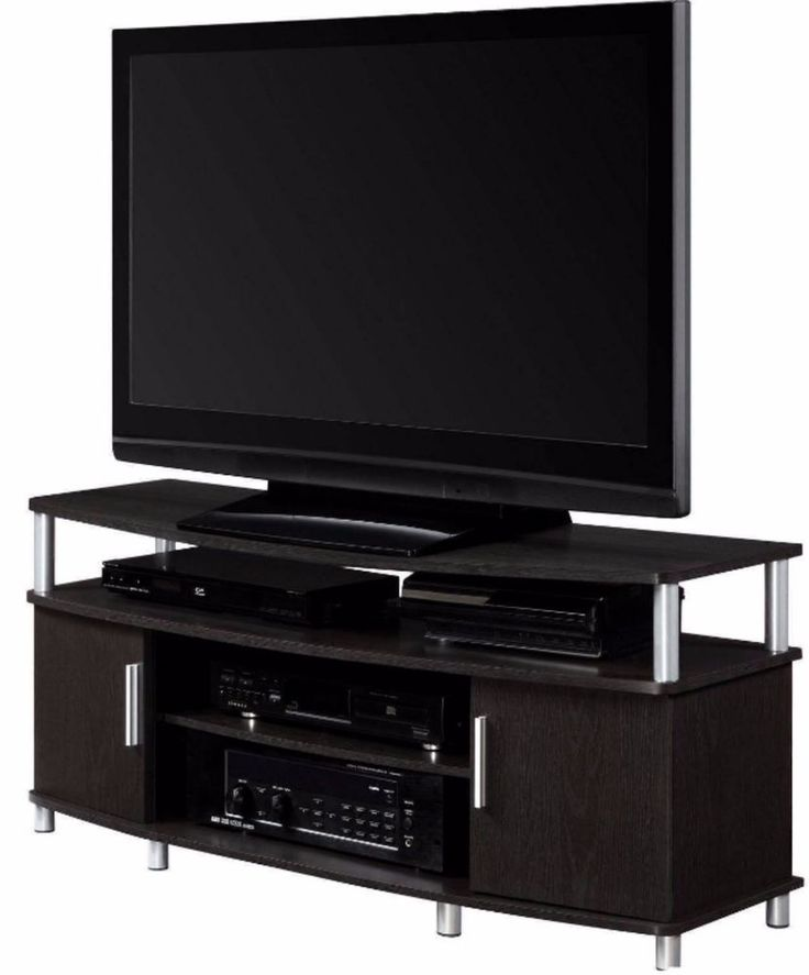 Tv Stands For Flat Screens Carson Up to 50 Inch Entertainment Center Espresso #Carson
