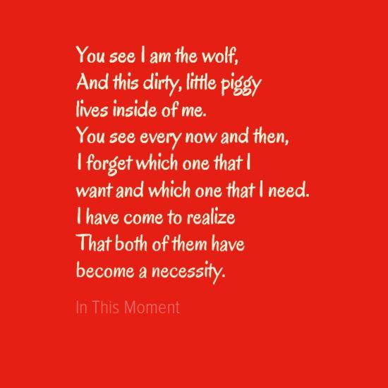 Big Bad Wolf Lyrics