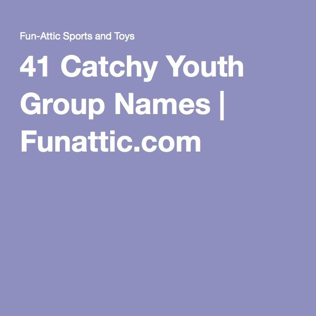 41 Catchy Youth Group Names | In need of some youth group names? This extensive list contains 41 names and you can be sure that one will be a great fit for your youth group.