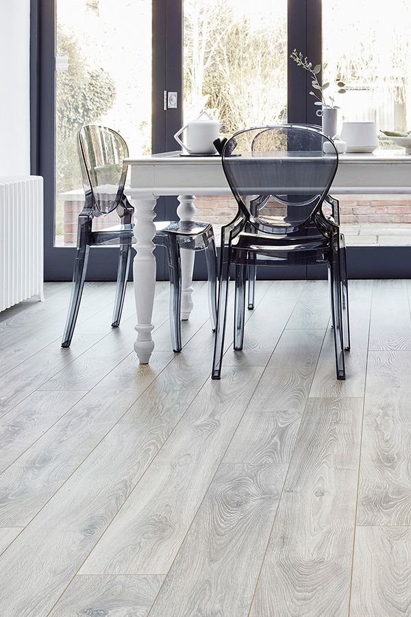 If You Re After Contemporary Elegance This Is The Floor For You With Its Striking Silvery Gre Grey Laminate Flooring White Laminate Flooring Grey Wood Floors