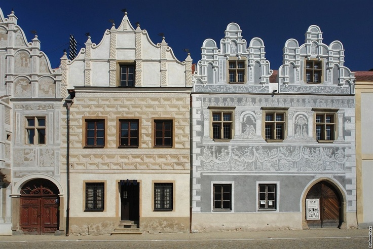 Renaissance houses in Slavonice, Czech Republic