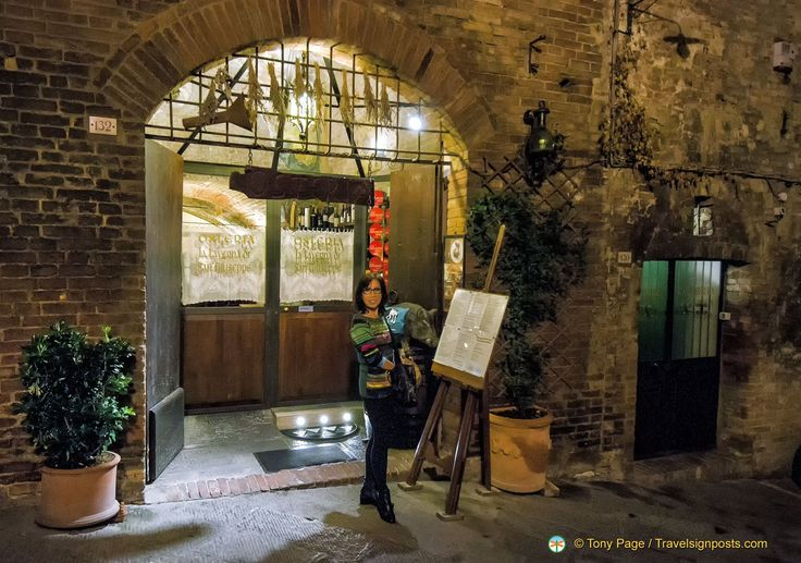 Great food and ambience at theTaverna di San Giuseppe in Siena