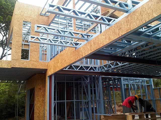 Resultado de imagem para house steel frame
