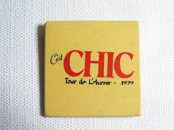 Check out this BIG vintage late 1970s pin from classic Disco / Funk band Chic!  The pin measures 2 inches by 2 inches and is in great condition for its age with some light wear. (Please see photos for more detail.) Item is shipped in a cardboard jewelry box via standard First Class Mail.