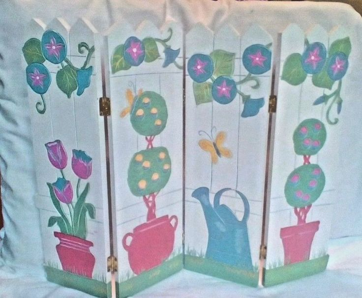 Foldable Picket Fence Spring Decoration with 4 Panels #Unbranded