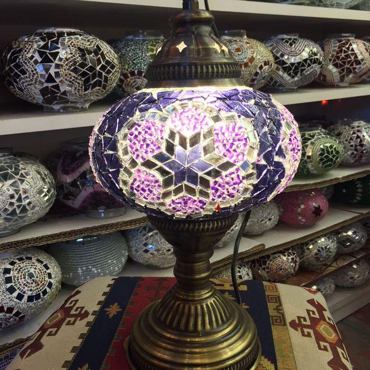 TURKISH MOSAIC TABLE LAMP, PURPLE
