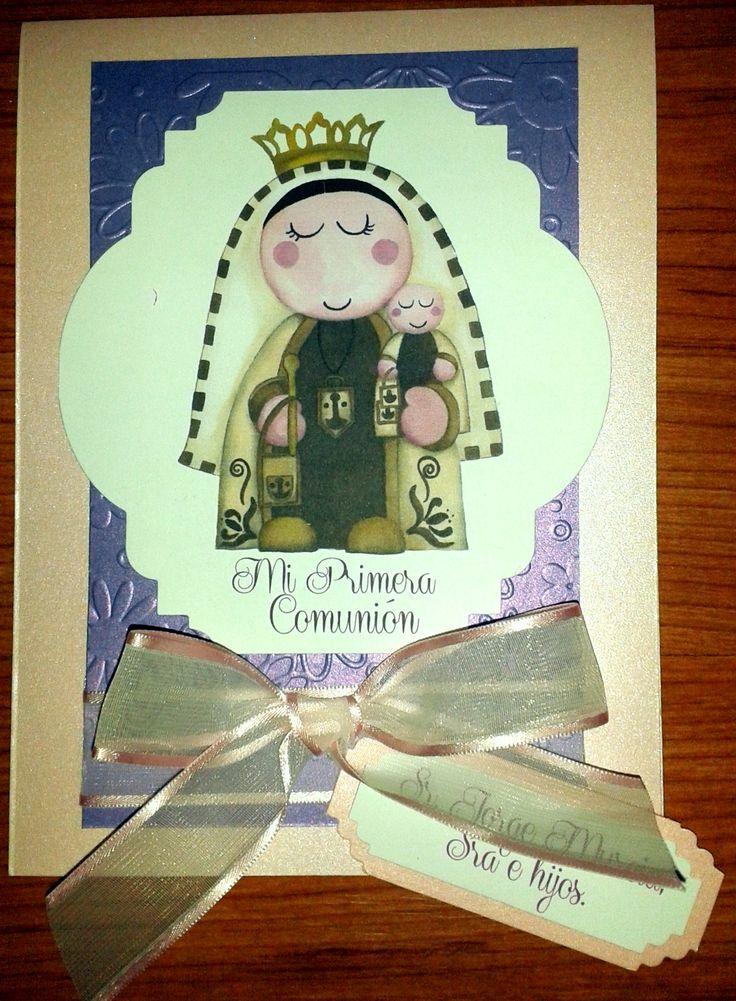 Invitación Primera Comunión Virgen del Carmen http://www.facebook.com/crpentinas Bogotá