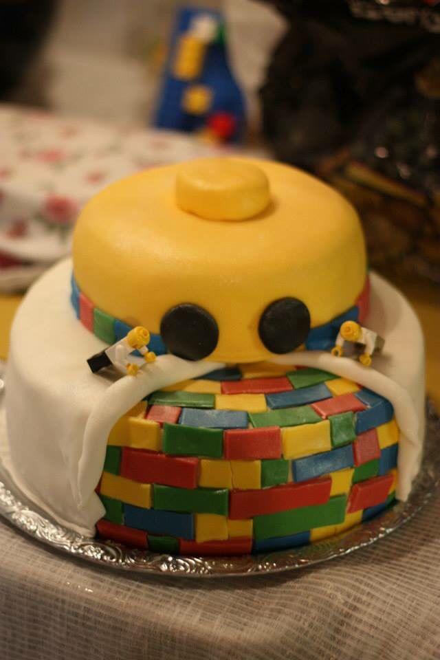 My son's 6th bday lego cake