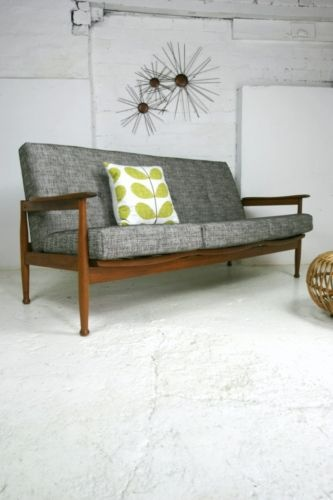 Mid Century Sofa (Yes!, I have one of these I need to refinish, now I have an idea what to do with the cushions) – Amy R.