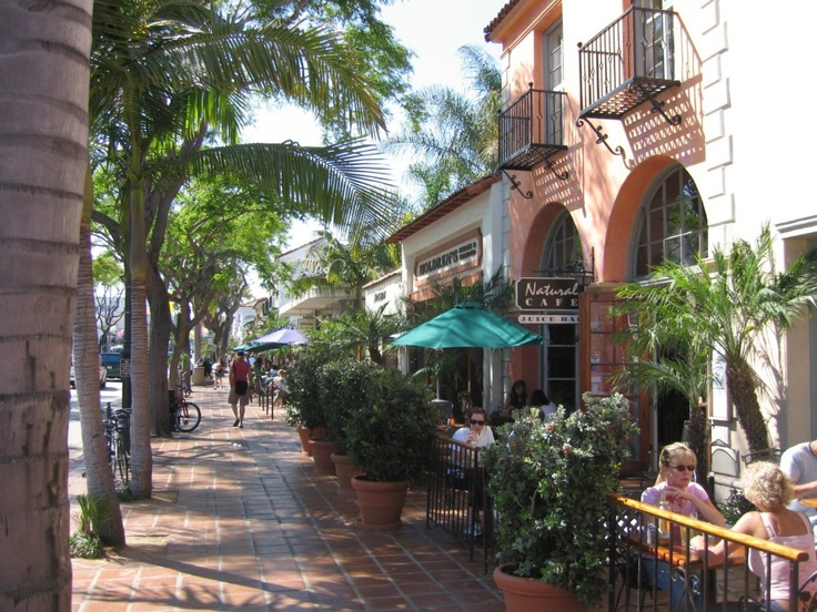 State Street! Grab a bite to eat, shop around or catch a flick, this street is Santa Barbara's go-to for visitors and locals alike.