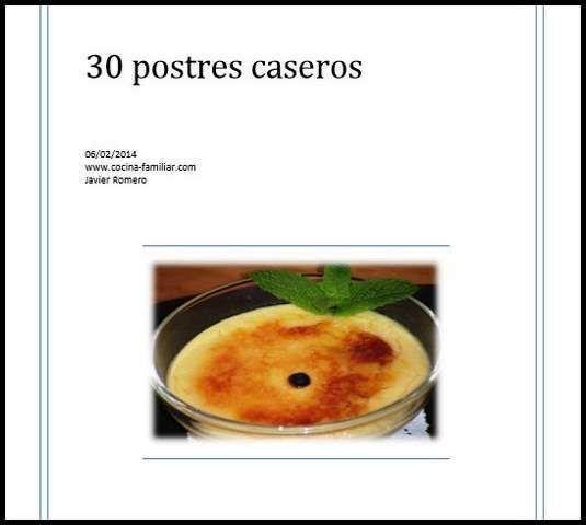Descarga gratis el libro 30 recetas de postre: Si quieres disfrutar de el en formato PDF puedes descargarlo ...