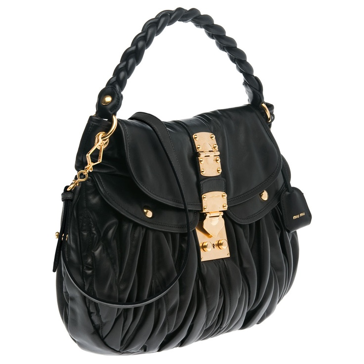 Miu Miu Matelasse Nappa Leather Hobo Bag