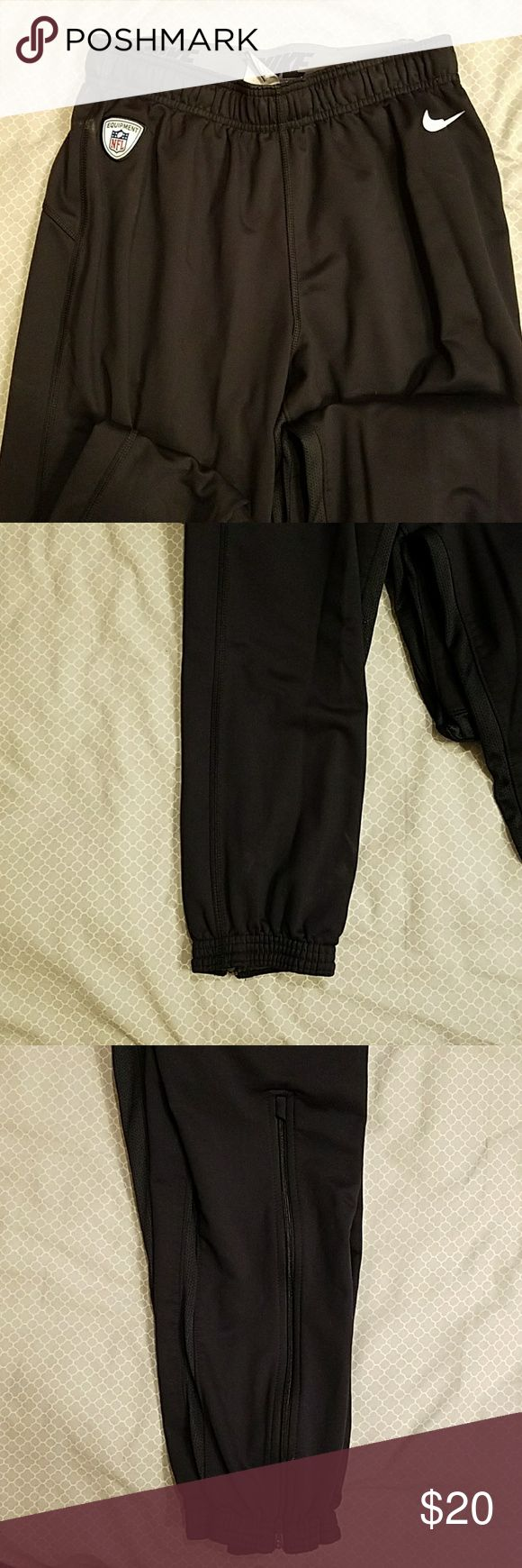 Nike NFL training joggers Nike NFL training joggers. High quality and great design. Has a rubberized material inside the leg cuff to keep them down around the ankle. Nike Pants Sweatpants & Joggers
