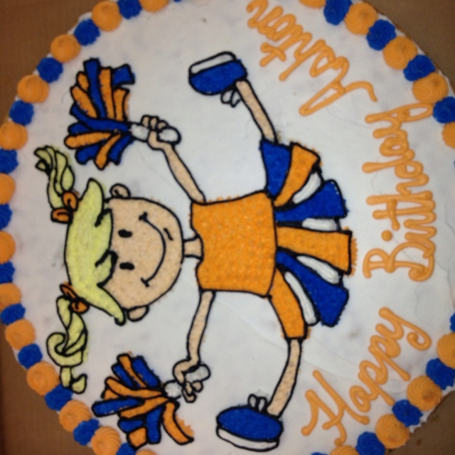 Cheerleader Birthday Cake