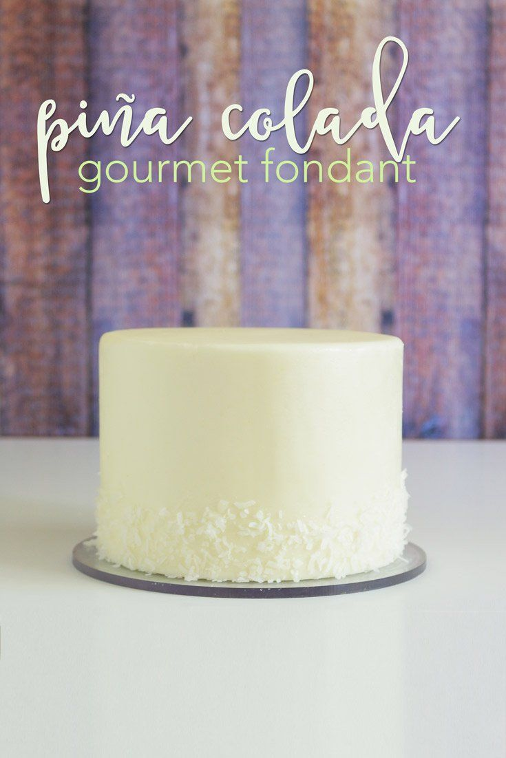 100% Homemade Pina Coloada Gourmet Fondant Recipe. This recipe is soft, creamy, rich, and teh aroma will take you to a far off tropical island! This is easy and will change what you expect from homemade fondant forever!