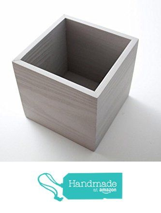 """Wooden Box Wedding Centerpiece 6""""x6""""x6"""" Flower Box Vase Planter Table Box Home and Event Decor Painted Silver Dollar from Centerpiece Box https://www.amazon.com/dp/B0195D4Z2Q/ref=hnd_sw_r_pi_dp_4OM1zbSDKJHPY #handmadeatamazon"""