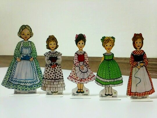 The Ginghams' Paper dolls