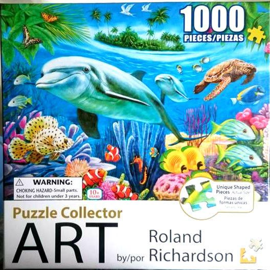 Dolphin Lagoon Puzzle Collector Art 1000 Piece Jigsaw Christmas Gift FREE Post*