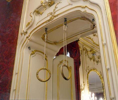 Les anneaux de gymnastique de Sissi, dans ses appartements de la Hofburg