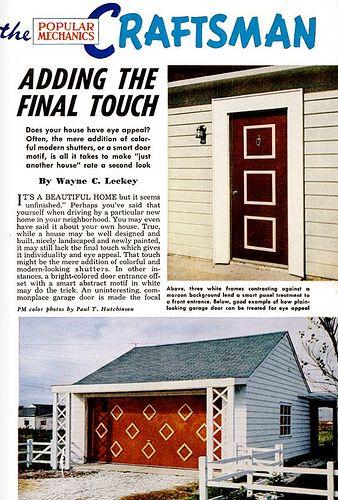 Now at Mid-Century Living: The Art of the Garage Door (Full-size image at blog!)   http://www.cancelletto.gr Ρολά ασφαλείας καταστημάτων, Ρολά για γκαραζόπορτες, Ρολά ασφαλείας για σπίτια, Ηλεκτρικά ρολά, Επισκευές ρολών