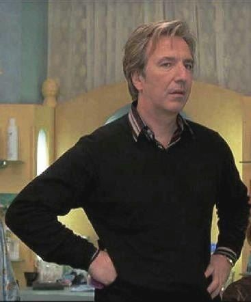 """2001 - Alan Rickman as Phil in """"Blow Dry."""" Awesome photo."""