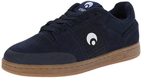 Osiris Sleak Herren Blau Wildleder Skate Schuhe Neu EU 40,5 - http://on-line-kaufen.de/osiris/40-5-eu-8-us-osiris-schuh-sleak-dunkelblau-gum-weiss