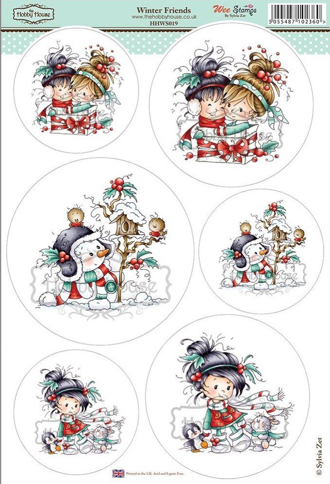 Wee Sylvia Zet die cut topper collection by the Hobby House - Winter Friends