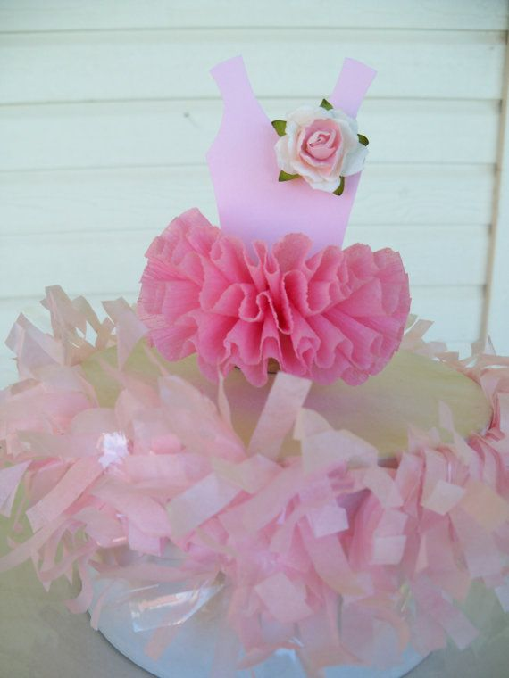 Ballerina Tutu Cake Topper for Birthday Party by JeanKnee on Etsy, $8.00