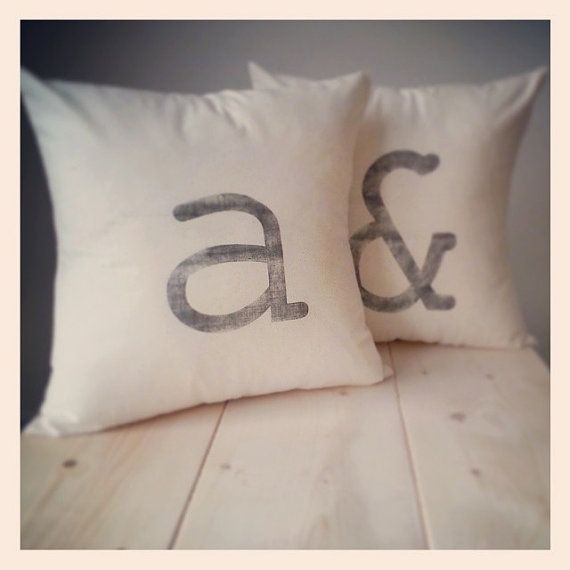 spell any word with these chic monogrammed pillows ♥