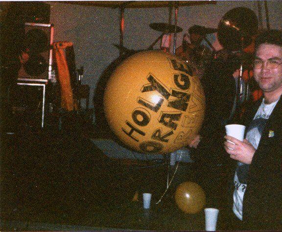 Holy Orange in der Goldenen Krone, Darmstadt with long time fan Pogo Müller