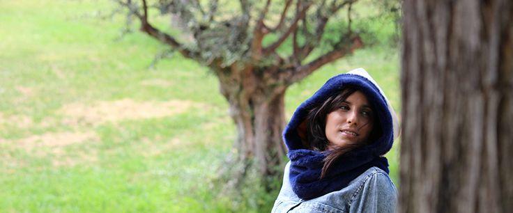 #fashion #hooded #scarf Marine Duvet!!  http://cachetoi-bcn.com/en/