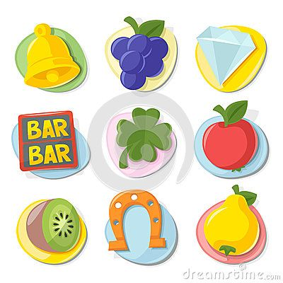 Slot Machine Fruit Icons Stock Photos, Images, & Pictures – (57 Images)