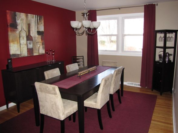 Wine Themed Dining Room