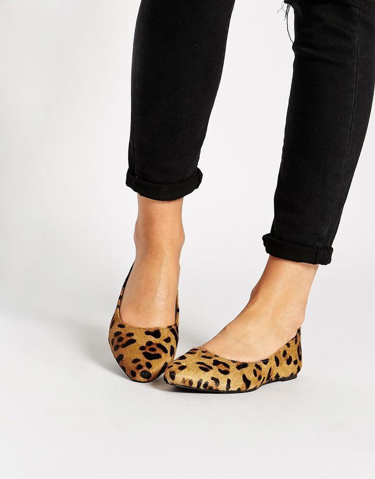 Bild 1 von Warehouse – Flache, spitz zulaufende Schuhe mit Leopardenmuster