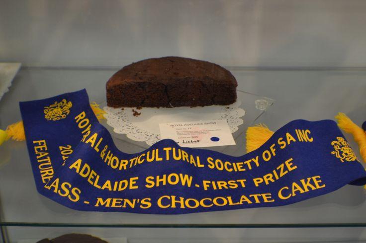 The Men's Chocolate Cake blue ribbon winner!