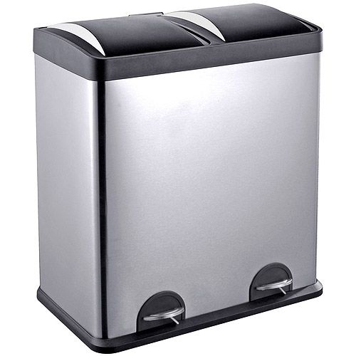 Exceptional Hands Free Step Pedals Are An Ideal Home Or Office Storage Solution. Use  The Removable Inner Bins To Sort Garbage, Recyclables, Laundry Detergent ...