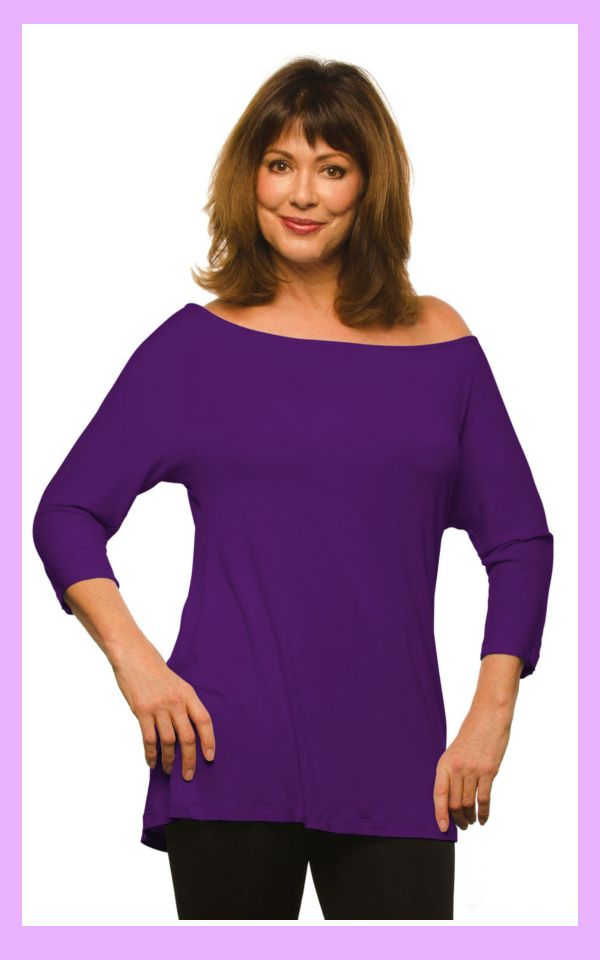 I have this top - you need it if you're an apple shaped woman - http://boomerinas.com/2013/07/micro-modal-tops-covered-perfectly-fits-women-over-50-60/