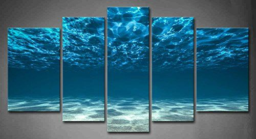 5 Panel Wall Art Blue Ocean Bottom View Beneath Surface Painting The Picture Print On Canvas Seascape Pictures For Home Decor Decoration Gift piece (Stretched By Wooden Frame,Ready To Hang) Firstwallart http://www.amazon.com/dp/B00MWS7PUG/ref=cm_sw_r_pi_dp_zOFAvb1A8JT36