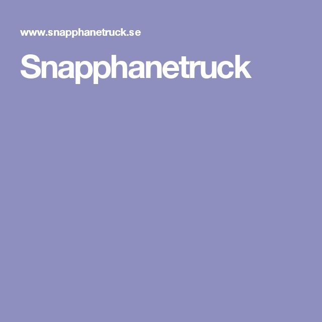 Snapphanetruck