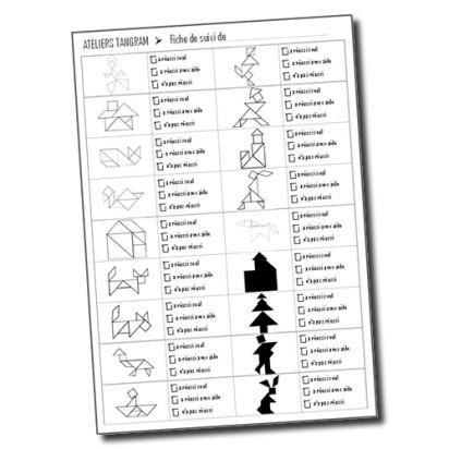Vers les Maths GS Période 3 : Les tangrams – Fiche de suivi individualisé | la maîtresse a des yeux dans le dos